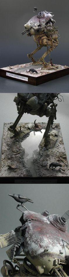 """memento mori"" by nbagi. Ma.K. 1/20 scale Kröte. #Ma_K #Maschinen_Krieger #diorama #vignette #Krote"