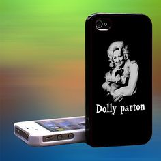 dolly parton emage text Custom Case iPhone by laskarspelangi, $14.89