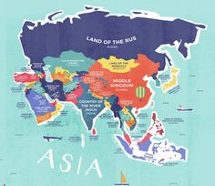 This map shows the literal meaning of every country's name