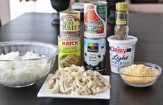 Chicken and Black Bean Green Enchilada Rice Bake - Picky Palate Easy Enchilada Casserole, Enchilada Rice, Black Bean Casserole, Green Enchilada Sauce, Chicken Casserole, Rice Casserole, Mexican Food Recipes, Beef Recipes, Chicken Recipes