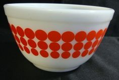 Pyrex Vintage Green Dot 404 4qt Mixing Bowl - Green Dots Pyrex Large ...