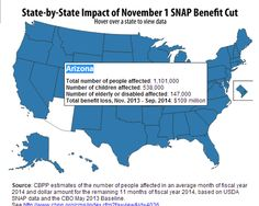 Interactive map shows how many people in each state — including how many children and disabled people in each state — will face a cut in SNAP (food stamp) benefits November 1