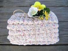 Spa Wash Cloth Eco Friendly Cotton Wash Cloth by MoomettesCrochet, $21.00