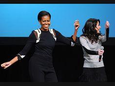 BUST A MOVE photo | Michelle Obama, Miranda Cosgrove