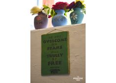He who overcomes his fears will truly be free Ancient Greek Quotes, Wooden Signs With Sayings, Positivity, Hand Painted, Free