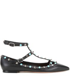 mytheresa.com - Rockstud Rolling leather ballerinas - Luxury Fashion for Women / Designer clothing, shoes, bags