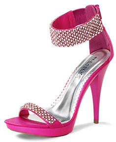Zip these 4-3/4-inch zippered heels on and you'll not want to take these pretty cuffed sandals off any time soon. Sexy and feminine, coy and flirty, these sandals match all your personalities in your choice of show stopping colors. The compliments will be never ending.