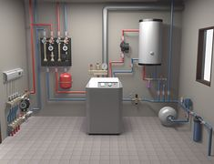 model of in-house heating system on Behance - padló - Geothermal Energy