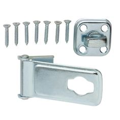 Zinc Plated Latch Post Safety Hasp