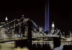 FOTOTAPET NEW YORK BY NIGHT - standard papirkvalitet - svært rimelig fototapet dersom du ikke vil legge så mye penger i det.