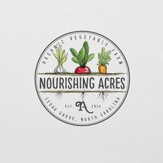 Bring your artistry to design logo with hand drawn veggies that we grow on our Organic vegetable farm by olimpio
