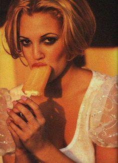 Drew Barrymore | by Ellen von Unwerth | 1990s.