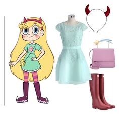 """""""Star Butterfly outfit"""" by leahelizabeth04 on Polyvore featuring Hunter and Chicwish"""