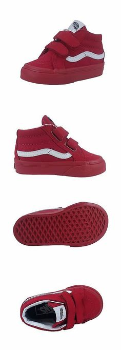 Infant Shoes  Vans Infant Toddler Baby Shoes Sk8 Mid Top Reissue V Straps  Red Canvas Mid -  BUY IT NOW ONLY   37 on eBay! e9c299d9e