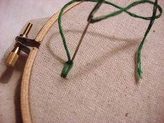 "Second ""link"" in a hand embroidered chain stitch"