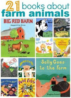 21 Books About Farm Animals - No Time For Flash Cards Lots of ideas about activities, games, lessons, and books- TODDLER AND PRESCHOOL Books about farm animals for kids Farm Animals For Kids, Farm Kids, Farm Activities, Children Activities, Farm Unit, Album Jeunesse, Farm Crafts, Easter Crafts, Preschool Books