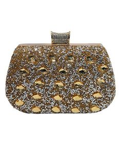 42cfbf69389b Another great find on #zulily! Gold Alexendria Rhinestone Clutch # zulilyfinds Evening Bags,