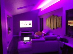 Building a Great Home Theater Clean Bedroom, Small Room Bedroom, Bedroom Decor, Dope Rooms, Home Recording Studio Setup, Apartment Lighting, Chill Room, Neon Room, Gaming Room Setup