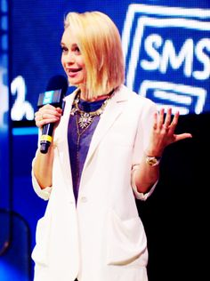 Becca Tobin, inspires students at We Day Seattle at the KeyArena at Seattle Center on April 2015 Becca Tobin, Dont Kill My Vibe, Seattle, Students, Inspiration, Fashion, Biblical Inspiration, Moda, Fashion Styles