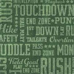 Club Pack of 192 Football Frenzy Green Word Cloud 2-Ply Paper Party Beverage Napkins 5
