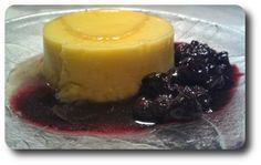 Creme Caramel med Blåbærsauce