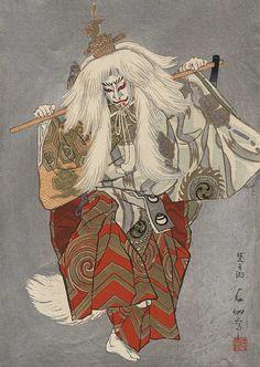 Cliquez sur la photo pour la fermer. Japanese Drawings, Japanese Artwork, Japanese Tattoo Art, Japanese Painting, Japanese Prints, Japanese Design, Japanese Yokai, Ancient Japanese Art, Japanese Folklore