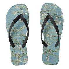 Shop for Green sandals & flip flops on Zazzle! Check out our selection of cool, comfortable Green sandals. Ocean Color Palette, Ocean Colors, Flip Flop Sandals, Flip Flops, Theo Van Gogh, Van Gogh Almond Blossom, Green Sandals, Van Gogh Museum, Vans Shop