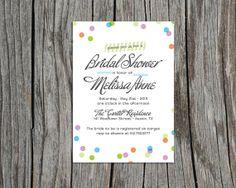 Custom, Printable Bridal Shower Invitation- Confetti