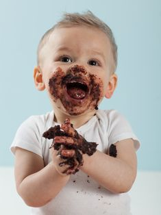 Image result for child chocolate face