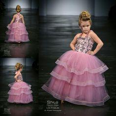 Loren Franco Designs Springs/Summer 2016 - girl's pink tulle dress