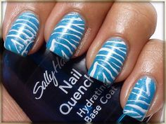45 Cool Nail Designs For Short Nail. I'd do this in pink, blue, or purple.