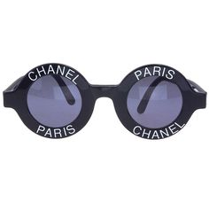 1a488ef27bbf0 Chanel  Chanel Paris  Logo Frame Sunglasses. Chanel SunglassesVintage  SunglassesSunglasses SaleRound ...