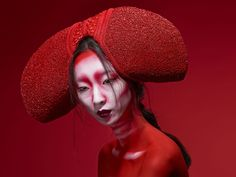 """Red"" — Photographer: Lindsay Adler Headpiece: Posh Fairytale Couture Hair/Makeup: Georgina Bilington"