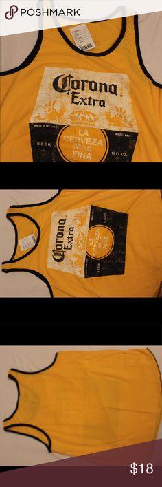La corona más fina beach tank This was bought at urban outfitters but never  worn is a great beach tank. Design is corona beer it s NWT and not asking  for ... f3af199ce9f6