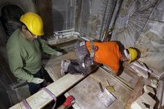Preservation experts have opened for the first time in at least two centuries what Christians believe is Jesus's tomb inside the Church of the Holy Sepulchre in Jerusalem.  Some of the historic work was witnessed by AFP photographer Gali Tibbon who captured images of the site believed to contain