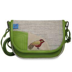 mini zelená s ptáčkem..