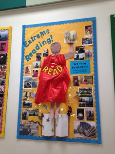 Extreme Reading display competition book week reading board