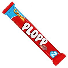 Plopp Chocolate Bar, from Sweden ...conveniently with the #2 on it.  Can't believe you did not bring one of these back for me.