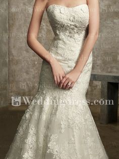 Strapless Beach Wedding Dress