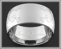 Find This Pin And More On Wedding Ideas Tungsten Carbide Dome Ring With Four Skull Crossbone