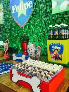 Sons Birthday, 3rd Birthday Parties, Birthday Bash, Paw Patrol Birthday Theme, Paw Patrol Party, Cumple Paw Patrol, Puppy Party, Cupcake Display, First Birthdays