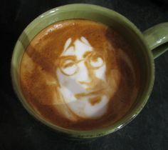 john lennon beatles original japanese coffee art coffee espresso cappuccino art breakfast drinks beverages