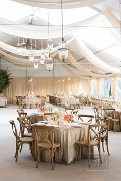 elegant tented reception Photography: Christian Oth Studio - christianothstudio.com  Read More: http://www.stylemepretty.com/2014/07/23/a-classic-tented-affair-at-glenmere-mansion/