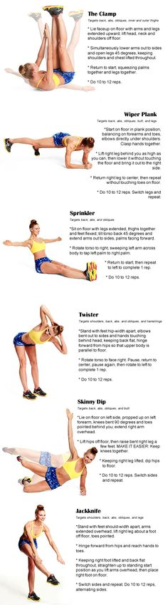 6 simple exercises, 10 to 12 reps each