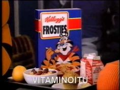 Kellogg's Frosties -mainos (1991) - YouTube Frosted Flakes, Cereal, Projects To Try, Breakfast, Box, Youtube, Morning Coffee, Snare Drum, Youtubers