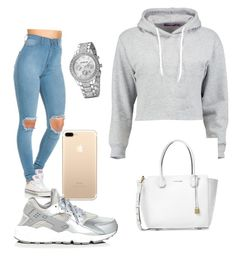 """""""Untitled #41"""" by daylajd on Polyvore featuring Boohoo, NIKE and Michael Kors"""
