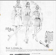 1969 Mini dresses and Pappagallo's.