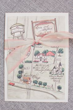 custom watercolor map | Harwell Photography #wedding