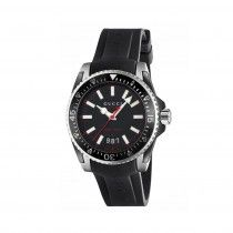 f31c84edd1b extra-large brushed and polished stainless steel case Black matte dial with  date