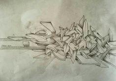 Graffiti Piece, Graffiti Wall Art, Graffiti Tagging, Graffiti Drawing, Graffiti Styles, Graffiti Lettering, Street Art Graffiti, Art Drawings, Typography